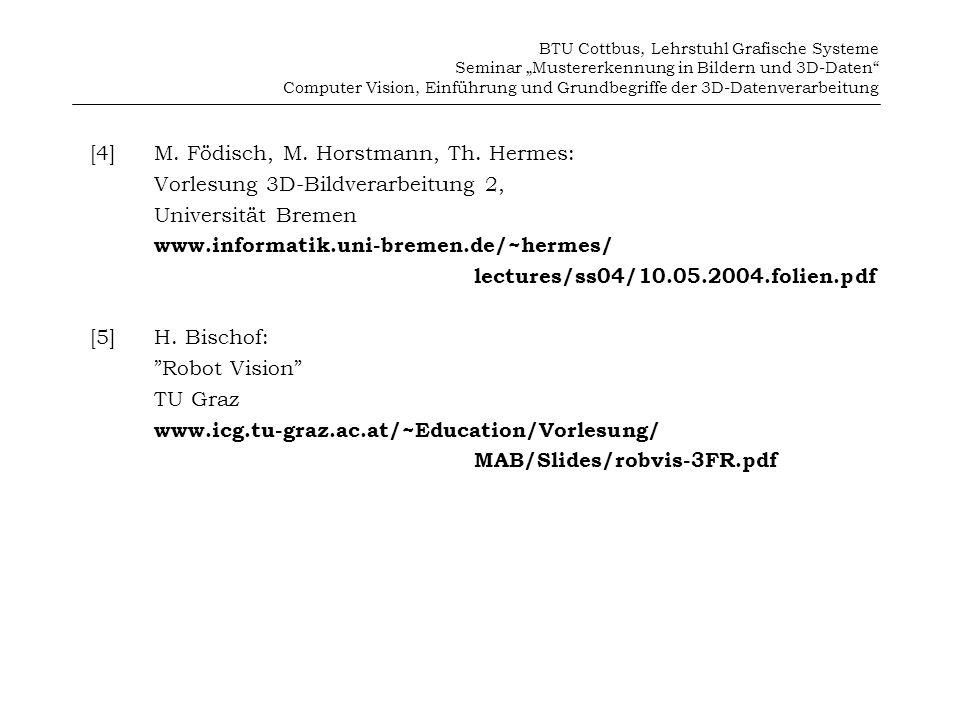 [4] M. Födisch, M. Horstmann, Th. Hermes: